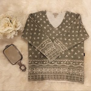 Burberry Brit Fair Isle-Style Sweater.
